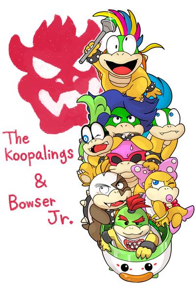 Koopalings And Bowser Jr By Hoshikagami Deviantart Com On