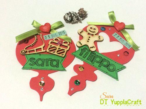 Segnaposto natalizi #christmas #segnoposto #natale #christmasideas #yupplacraft #scrapbooking