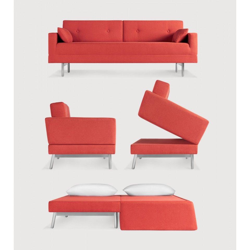 One night stand sleeper sofa modern sofa bed blu dot 2000