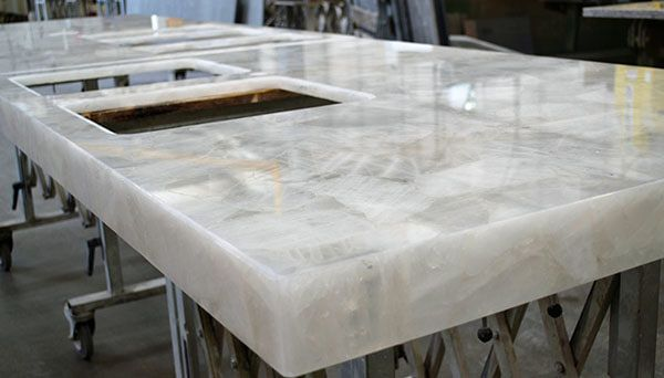 Quartz Semi Precious Gemstones Stone Table Top Natural Stone