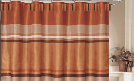 13 Piece 70 X72 Shower Curtain Set Orange Shower Curtain Brown Bathroom Decor Orange Curtains