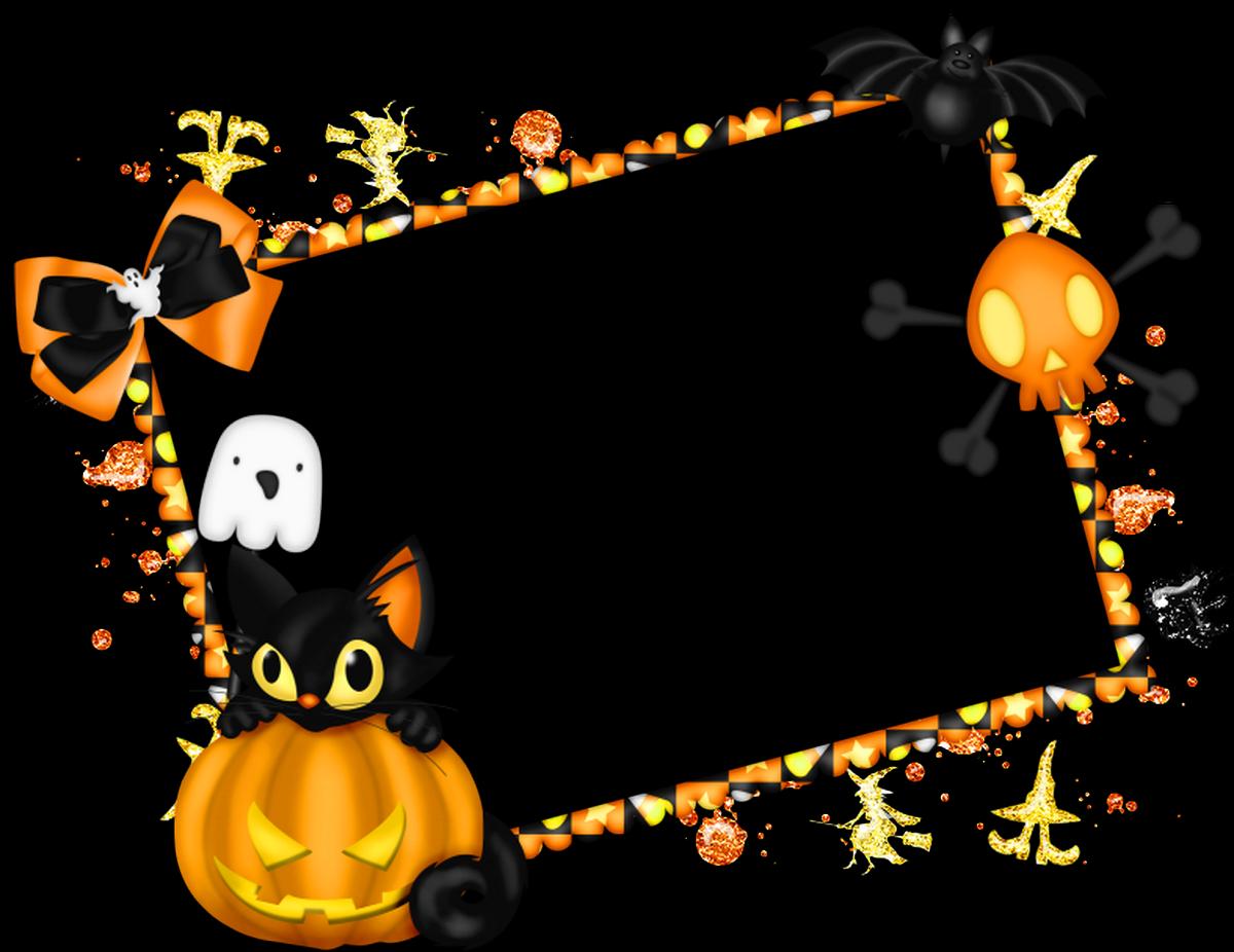 cute halloween border frame - free clip art, childrens halloween