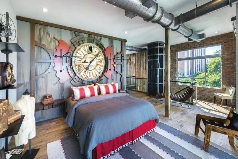 Industrial Style Bedroom Furniture Awesome Time Machine Style Red