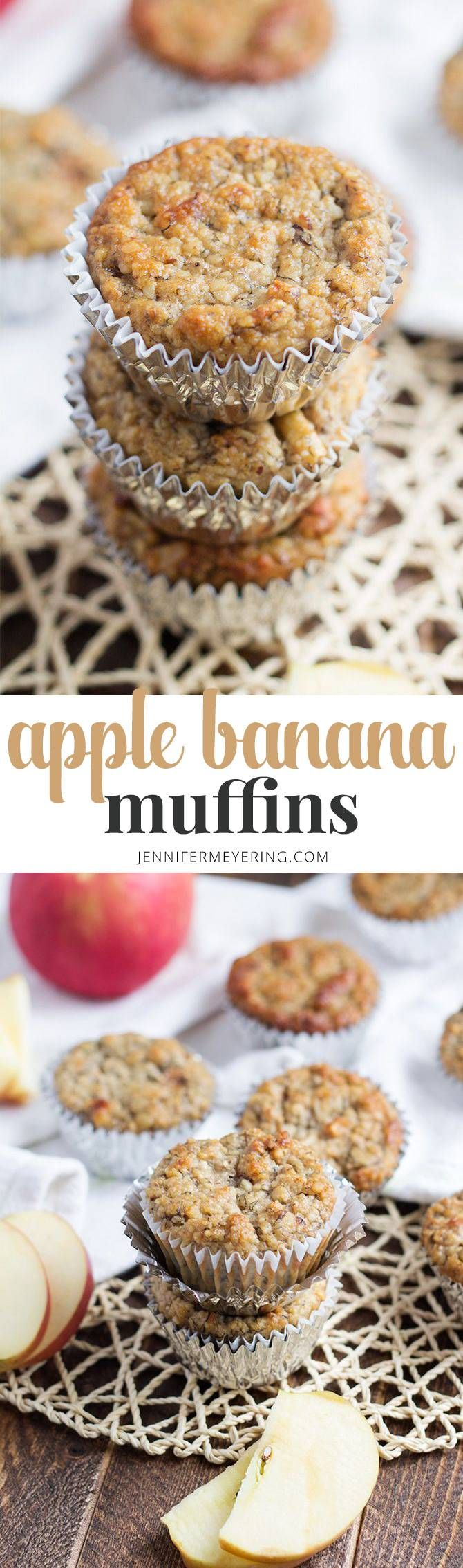 Apple Banana Muffins - JenniferMeyering.com | Apple banana ...