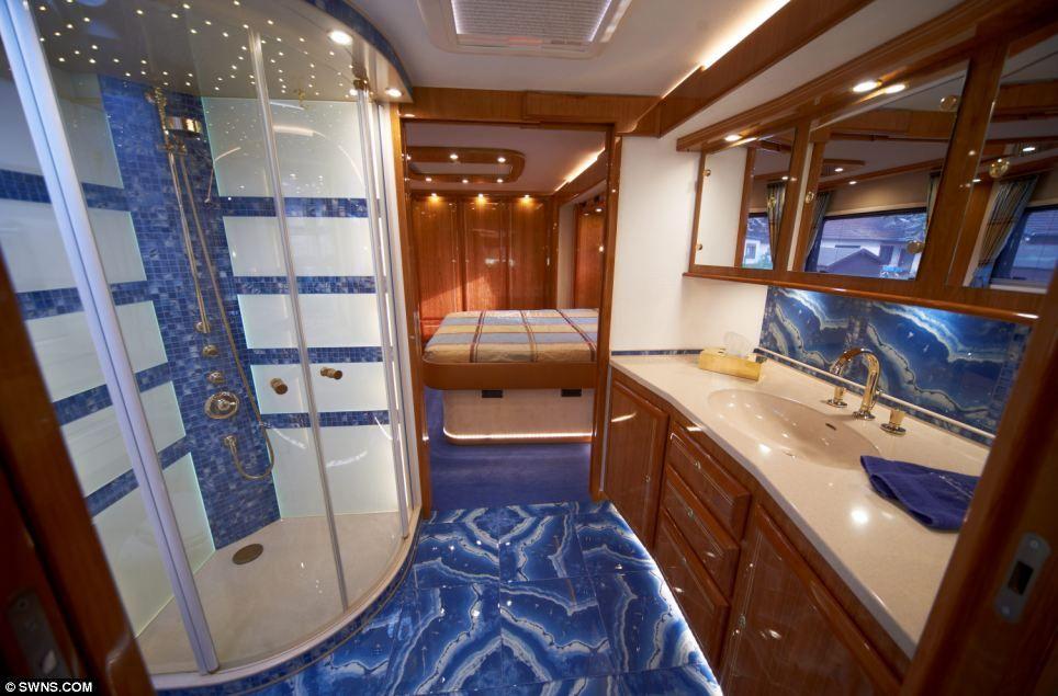 Luxury Bathrooms Tauranga the £1.2million motorhome with a state-of-the-art kitchen, luxury