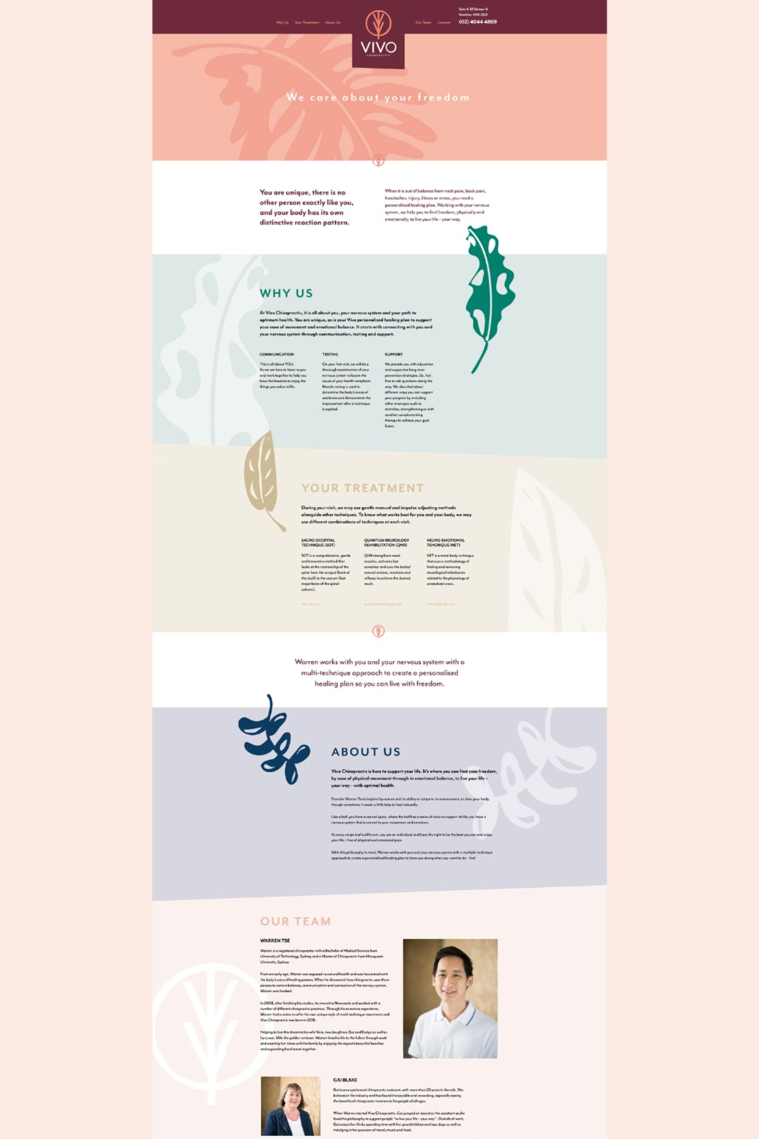 Vivo Chiropractic In 2020 Web Design Web Design Inspiration Creative Design