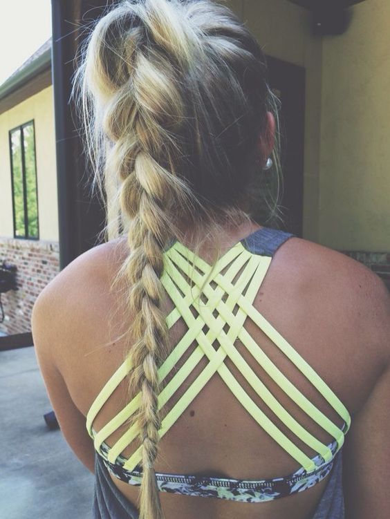 Easy Ways To Do Your Hair For Sports Workout Hairstyles Sporty Ponytail Gym Hairstyles
