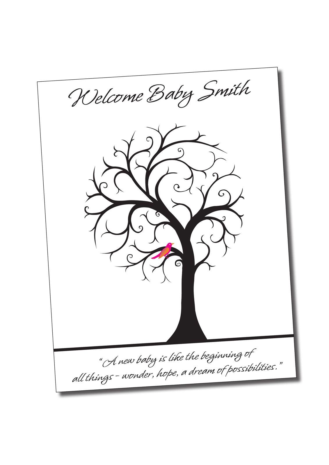 Fingerprint Tree For Baby Shower | ... **Birthday**Anniversary*
