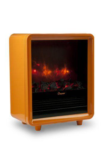 amazon com crane mini fireplace heater orange space heaters rh pinterest com best small fireplace heaters