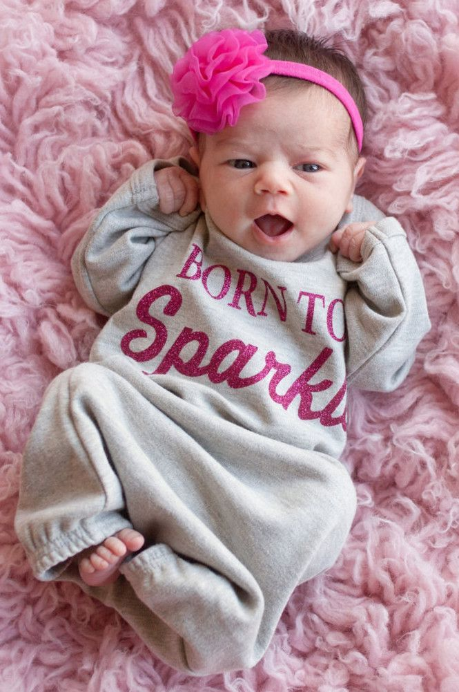 Baby Girls Gown - Born to Sparkle | Pinterest | Schwanger kleidung ...