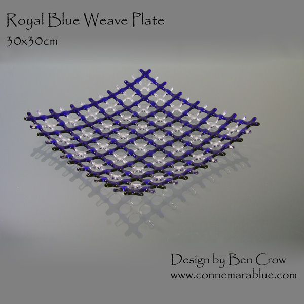 Royal Blue Weave Fused Glass By Connemarablue
