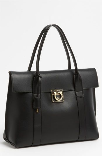 9a2a2fc7eb9f My next black bag purchse Salvatore Ferragamo  Sookie - Medium  Leather  Satchel available at  Nordstrom