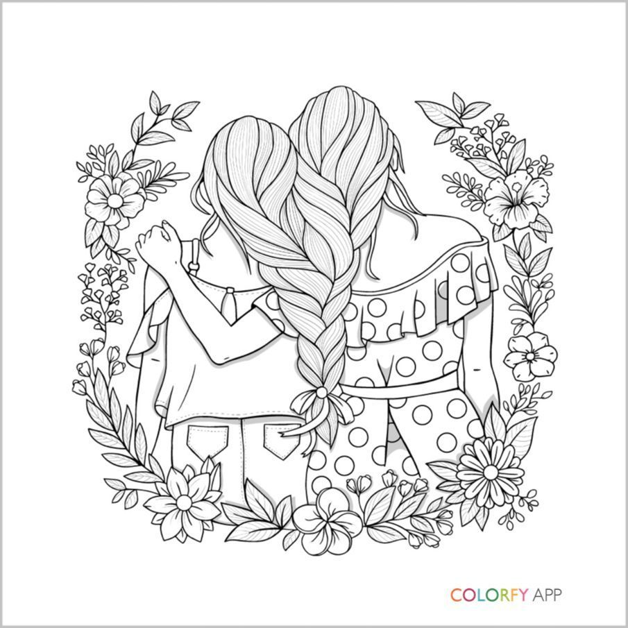 Pin By Yooper Girl On Color Hair Coloring Pages Bff Muster