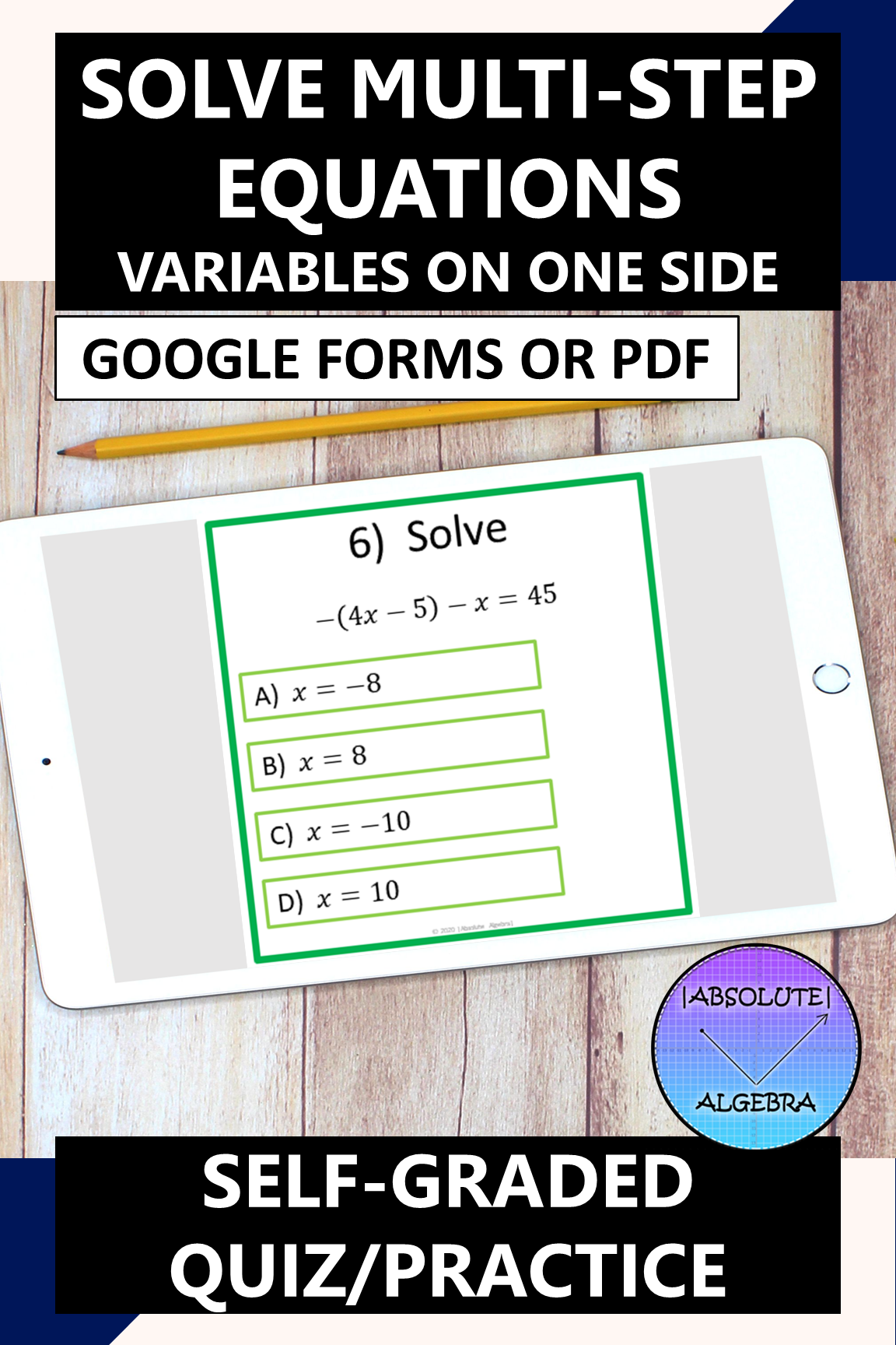 SOLVE MULTI-STEP EQUATIONS VARIABLES ON ONE SIDE GOOGLE ...