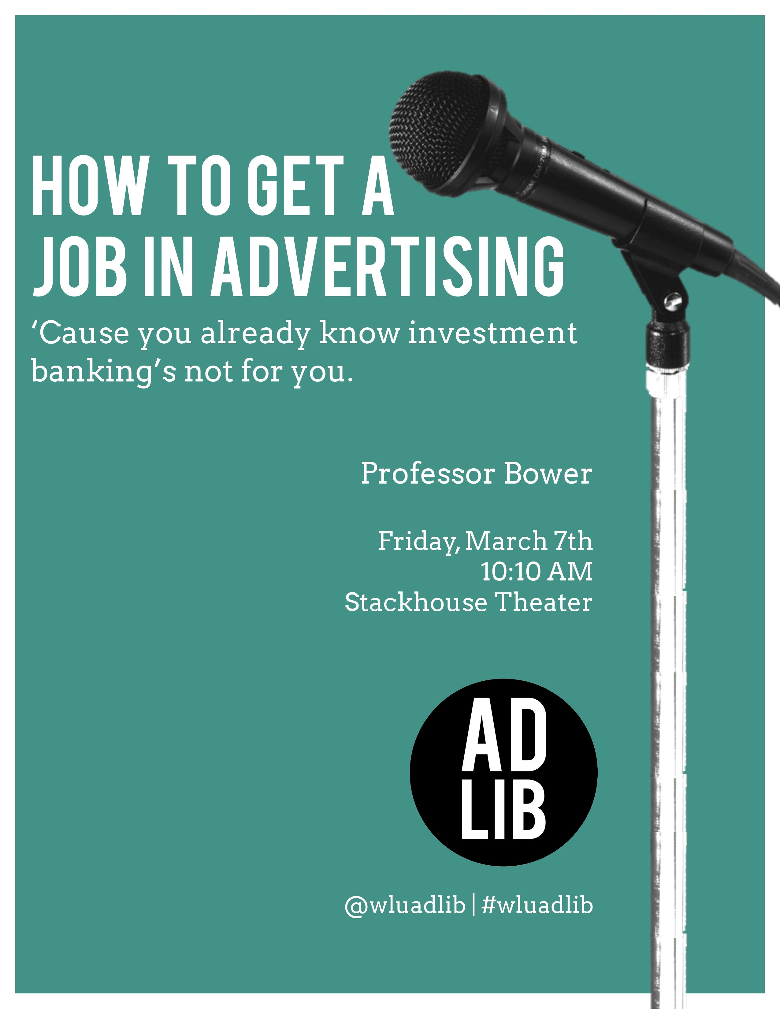 How To Get A Job In Advertising | AdLib Conference 2014