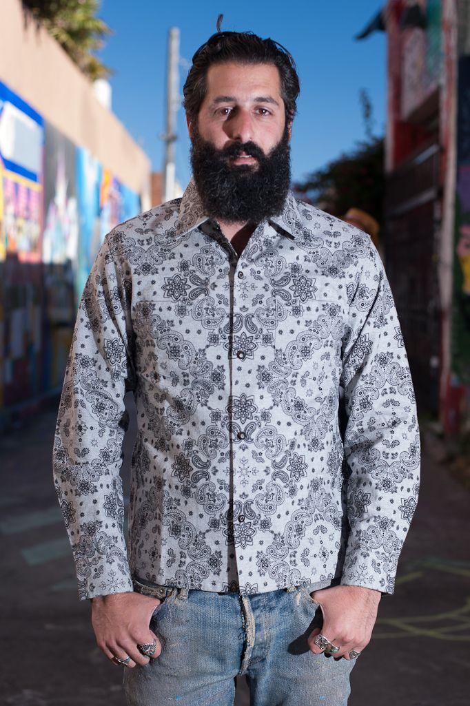 Stevenson Allstate Long Sleeve Shirt - Gray - Self Edge