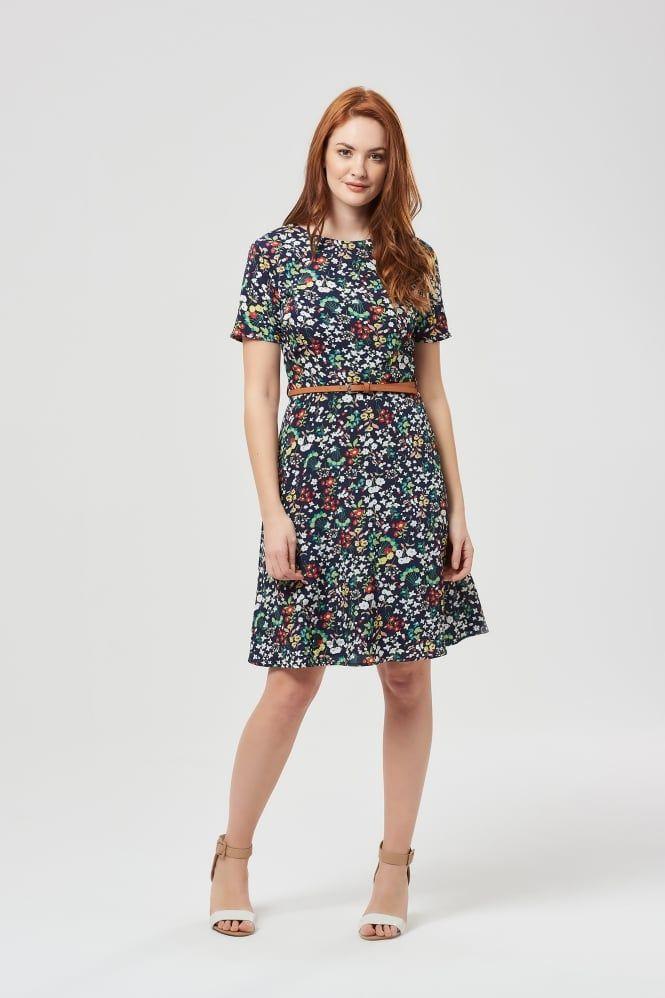411d04713b3b Ohara Ditsy Floral Navy Dress Navy Floral Dress, Ditsy Floral, Navy Dress,  Vintage