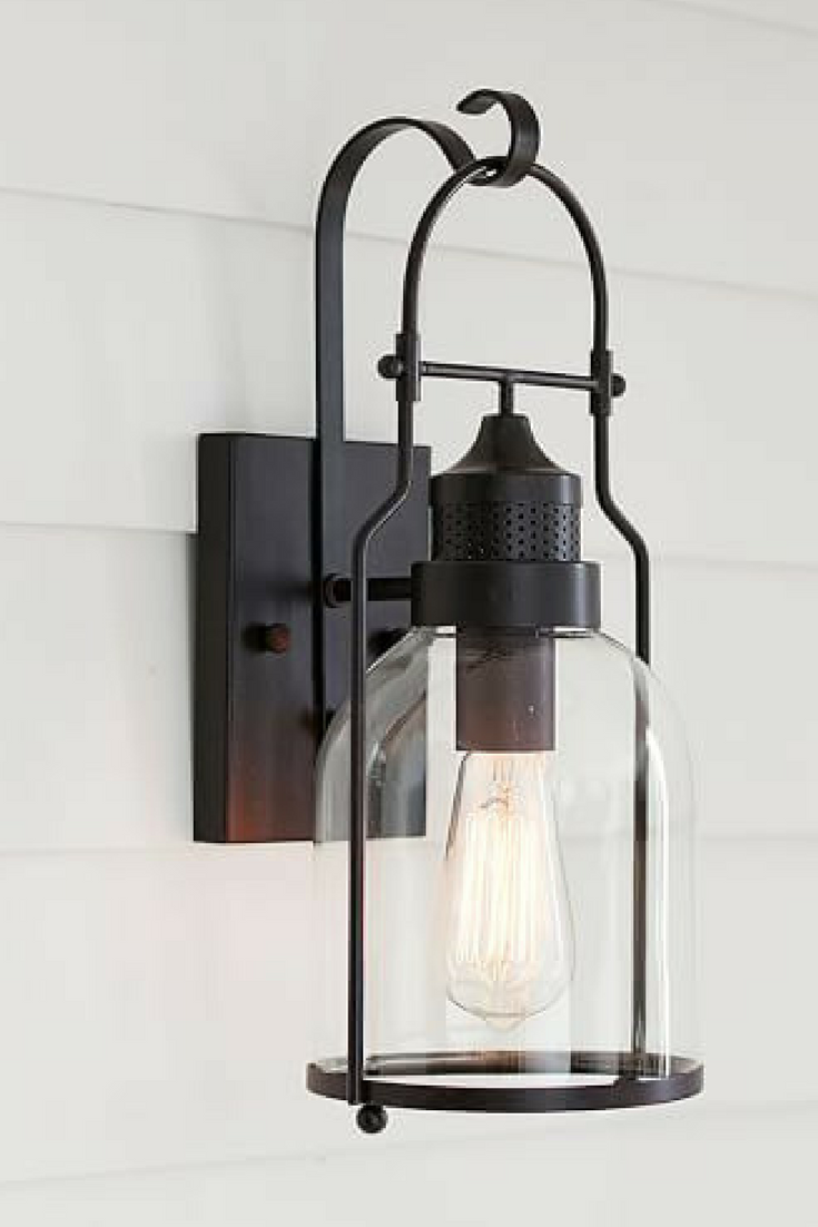 Taylor indooroutdoor sconce at pottery barn love this light would