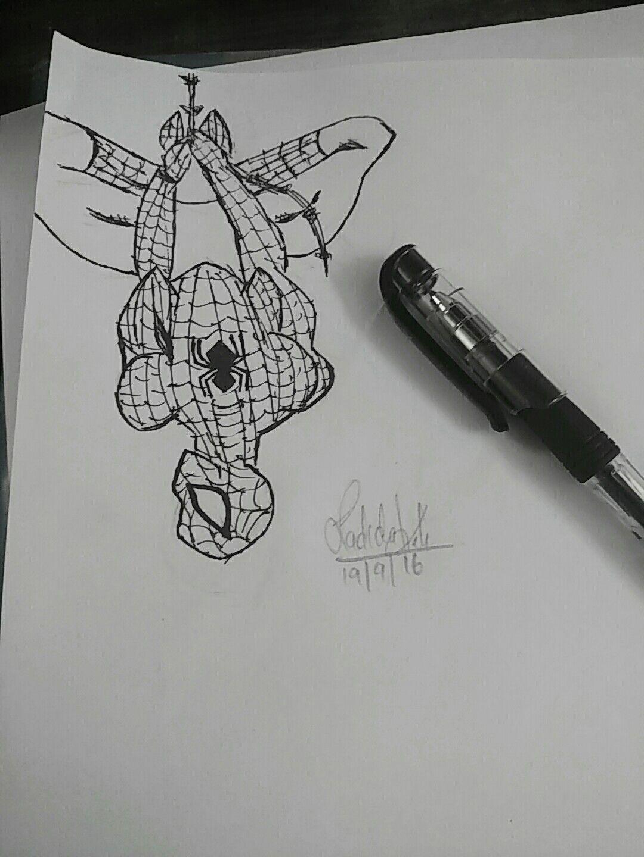 Easy Spiderman Sketch Ladida Draw Marvel Drawings Spiderman