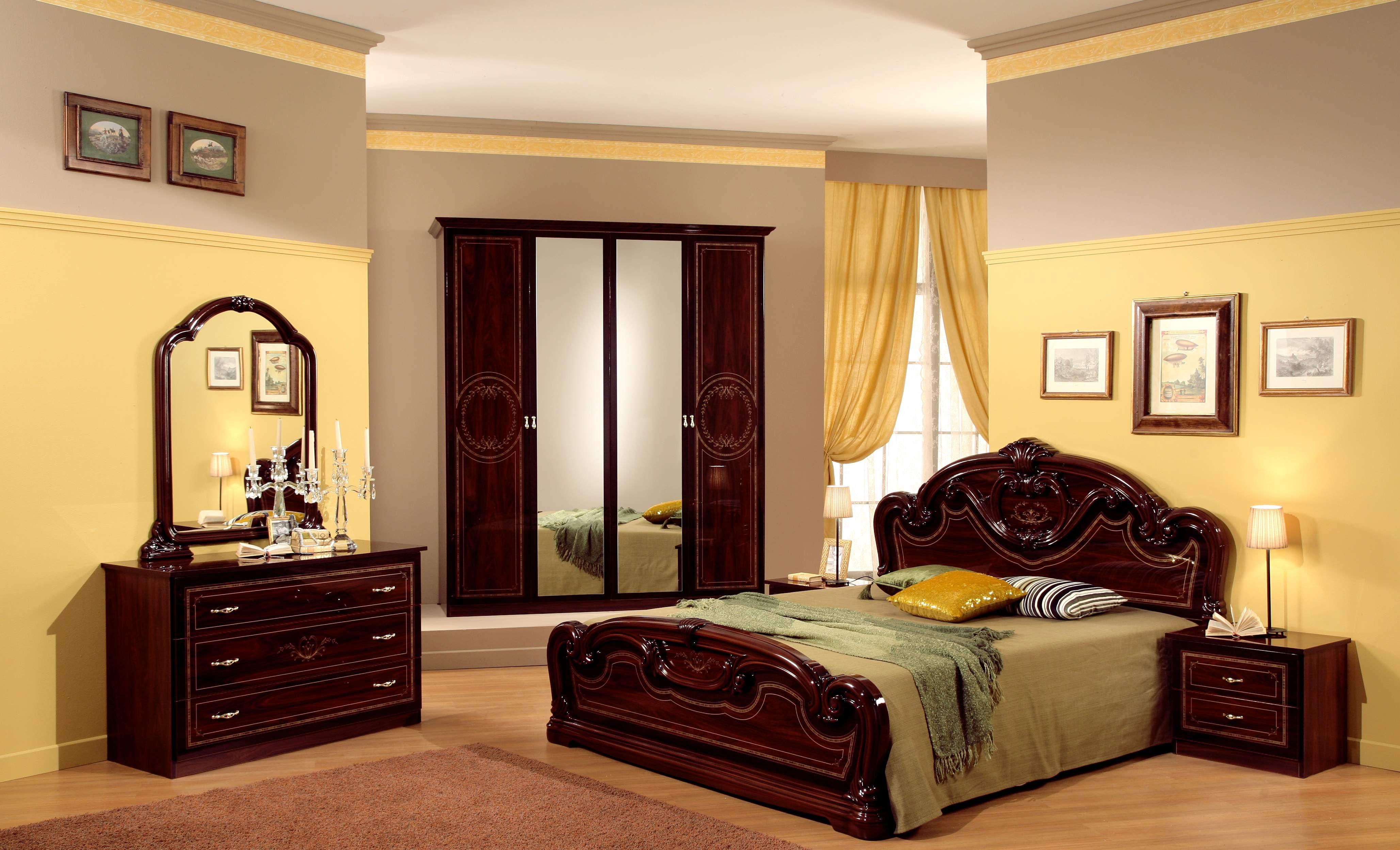 classic bedroom design decor furniture ideas cream yellow color ...