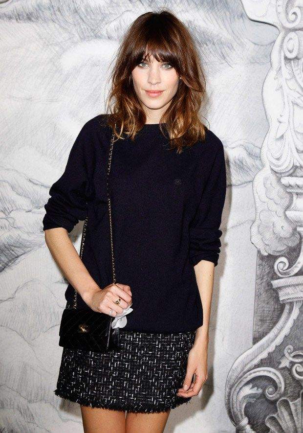 Alexa Chung at Chanel haute couture