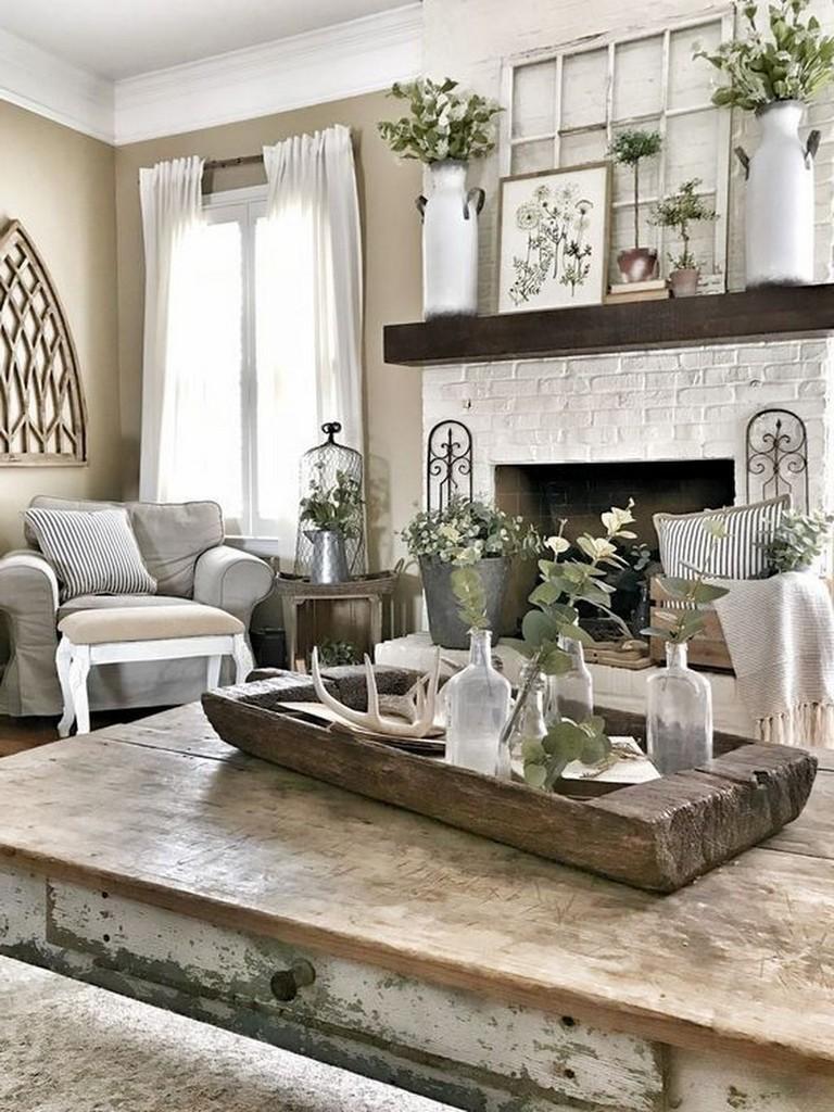 30 Lovely Rustic Farmhouse Living Room Design Ideas Farmhouse