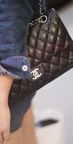 Street style de primavera en Paris: bolso 2.55 de Chanel