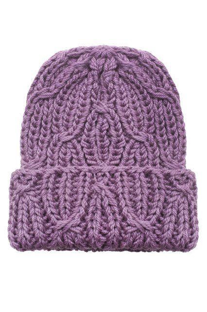 Шерстяная шапка A.T.T - Отличная базовая вещь для любого повседневного гардероба в холодную погоду: шапка сиреневого цвета из коллекции российского бренда A в интернет-магазине модной дизайнерской и брендовой одежды