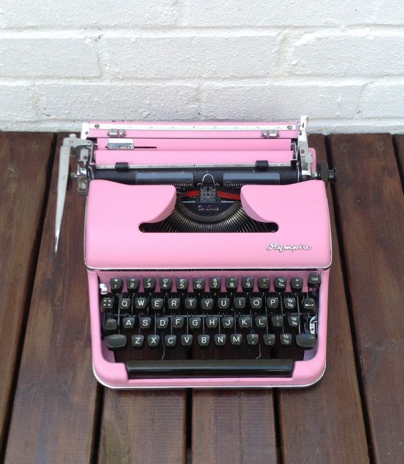 Pink Typewriter - custom order    You can choose to have this fantastic SM3 Olympia painted exactly like this photo or alternatively you can