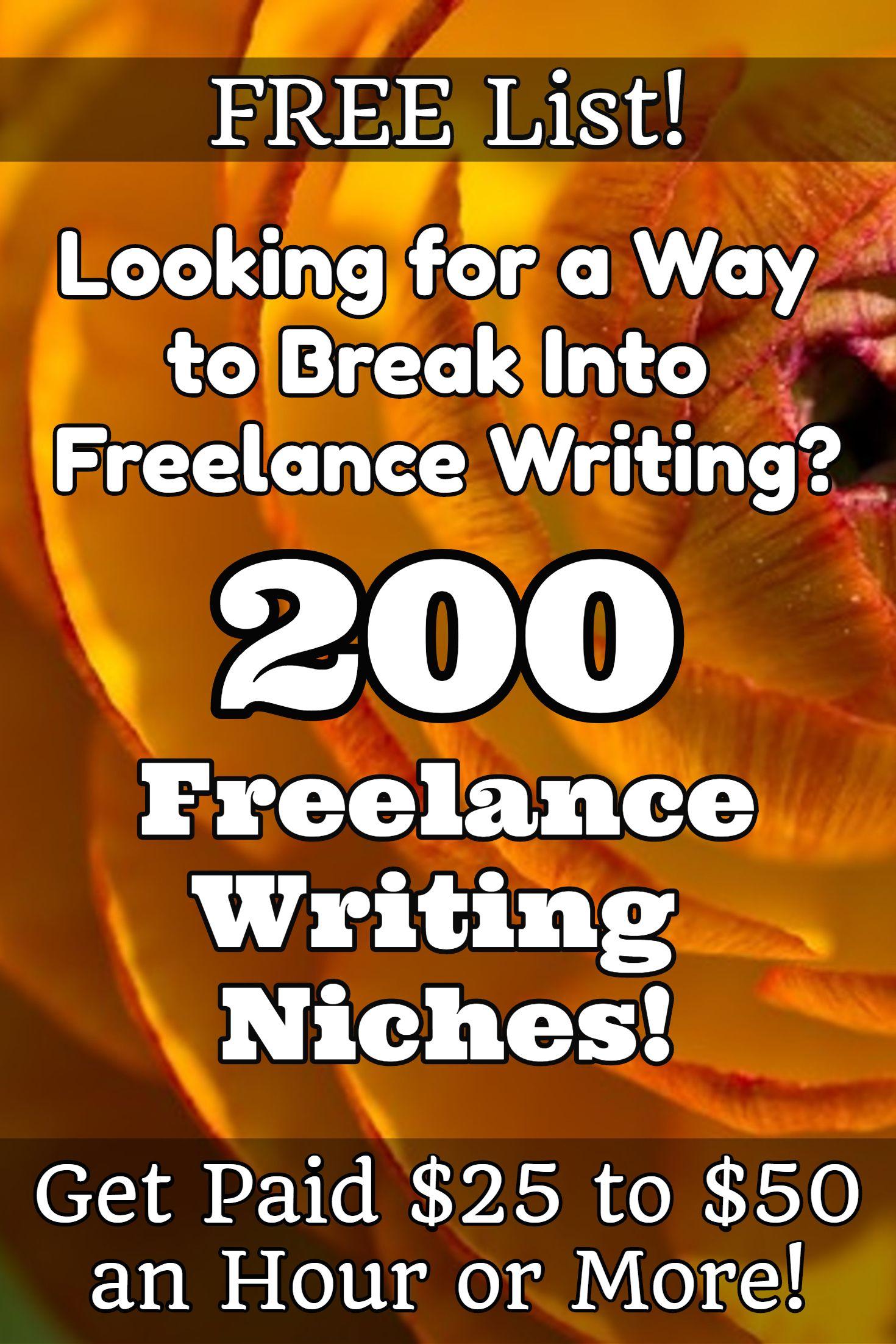 List academic freelance writing companies