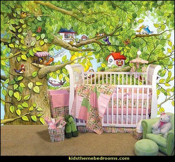 Delightful Butterfly Garden Wall Mural Tree Wall Murals Part 21
