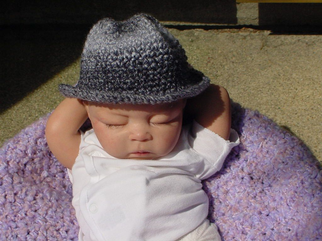 Baby  Fedora Hat  3 to 6 Month Size. $15.00, via Etsy.