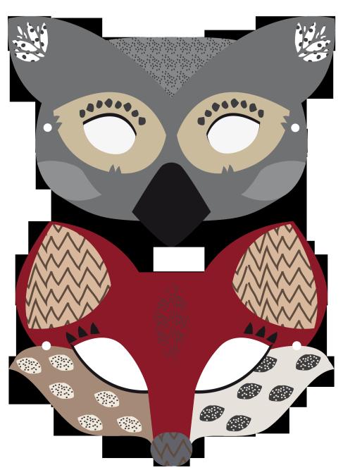 Printable animal masks diy pinterest animal masks for Woodland animal masks template