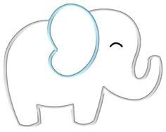 elephant applique template - Google Search | Baby Shower | Pinterest ...