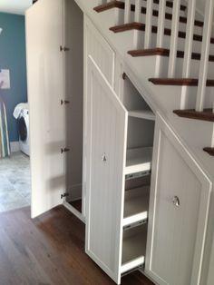 gorgeous under stair storage look charleston transitional staircase rh pinterest com