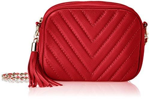 Co-Lab by Christopher Kon - by Christopher Kon Zenith Medium Quilt Leather Bag,Red,One Size    #bags #handbag #purse #Valentines