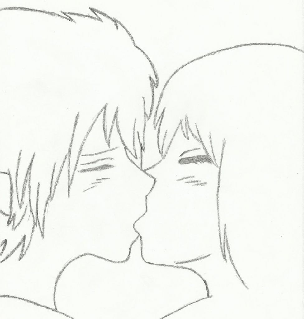 Easy to draw couple anime