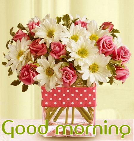 Good Morning Greetings With Coffee And Flowers Good Morning Wish