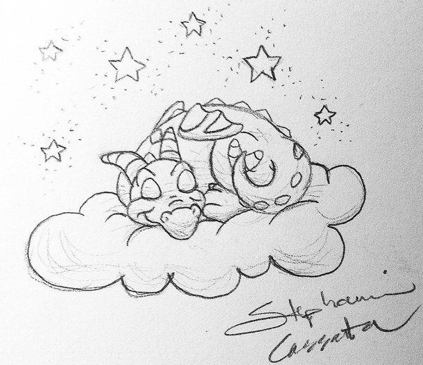 Sleepy Figment Sketch By Stephaniecassataart Disney Drawings