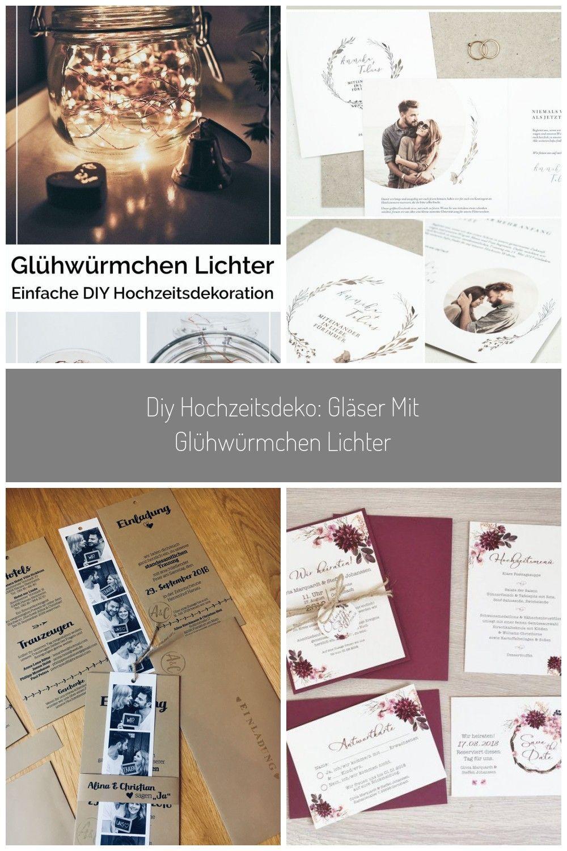 Diy Hochzeitsdeko Glaser Mit Gluhwurmchen Lichter Yeah Handmade Diy Hochzeitsdeko Hochzeitsdekoration Hochzeitsdeko