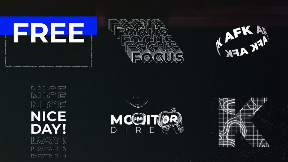Download Free Kinetic Typography Pack · Pinspiry in 2021 | Graphic ...
