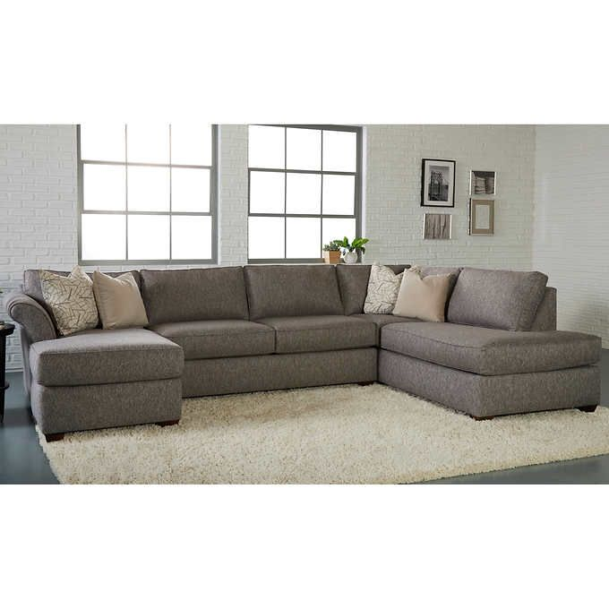 lindley 3 piece fabric sectional in 2019 family room ideas rh pinterest com