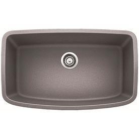 blanco valea 32 in x 19 in metallic gray single basin undermount rh pinterest com