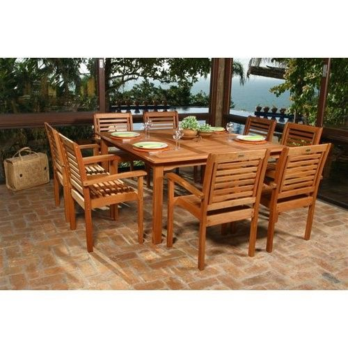 amazonia milano square eucalyptus dining set seats 8 brown rh pinterest ca