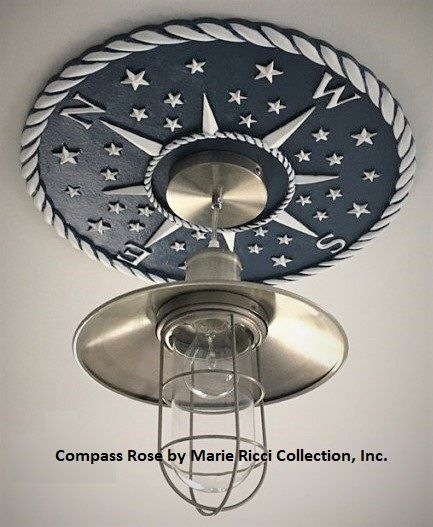 Photo of Christmas Gift for Men, Ceiling Medallions, Compass Rose Ceiling Medallion, Compass Rose Decor, Navy Decor, Nautical Decor, Marie Ricci