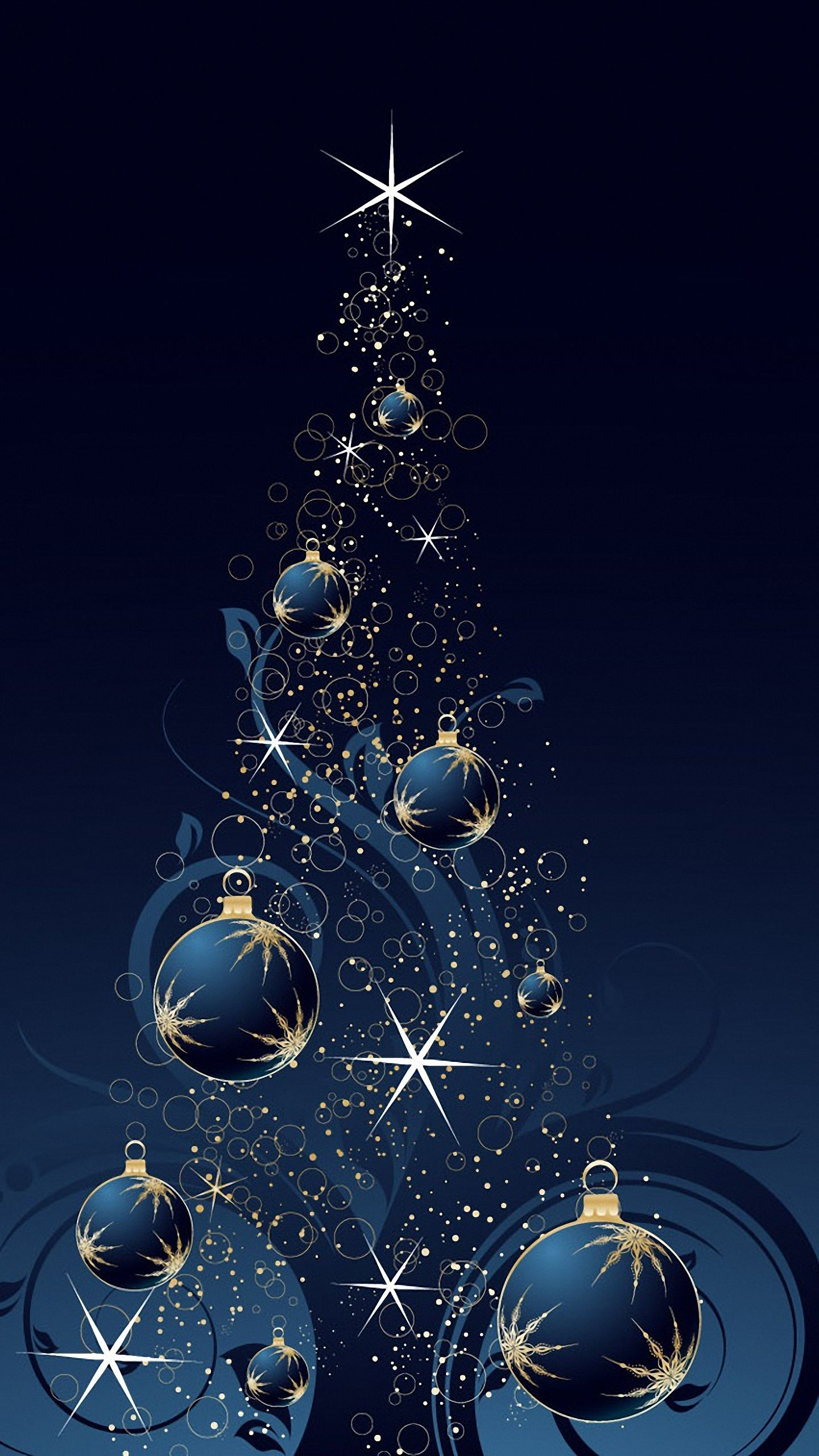 Samsung Galaxy Wallpaper Christmas download blue