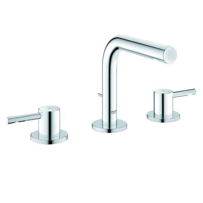 Grohe Infiniti Brushed Nickel Essence Wideset Bathroom Faucet (Infiniti  Brushed Nickel)