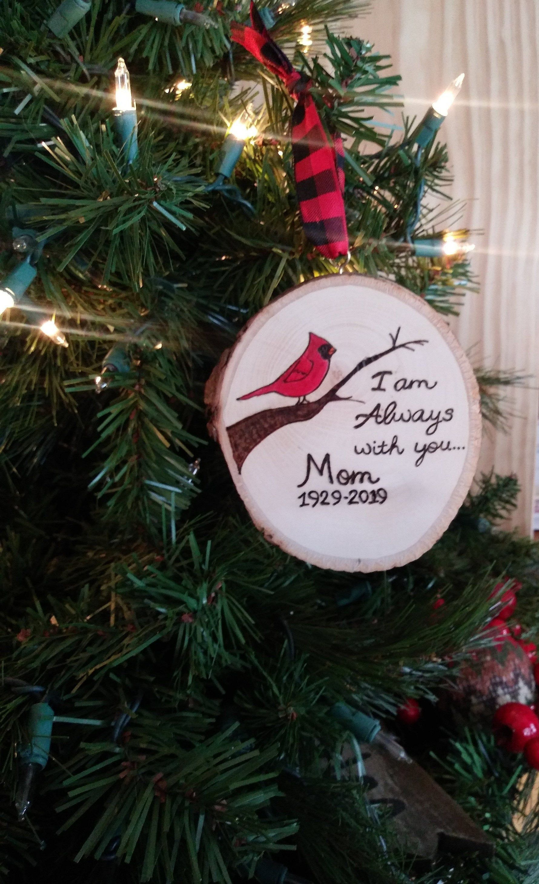 Cardinal ornament personalized sympathy ornament for lost