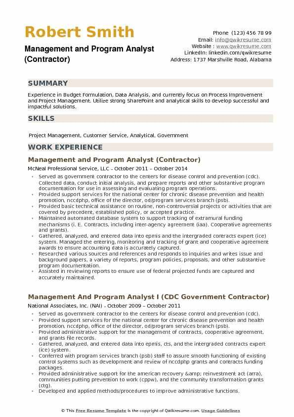 69 Beautiful Collection Of Sample Resume for Government Management