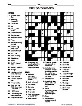 These are five biology crosswords that cover the following